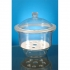 Desiccator with lid, glass with porcelain plate 250mm