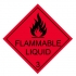 Label flammable liquid class 3 paper self adhesive