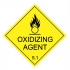 Label oxidizing agent class 5.1 20mm x 20mm paper self adhes