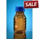 Bottle laboratory glass 100ml amber graduated GL 45 with scr