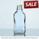 Bottle square NN clear 250 ml no dust cap & pouring ring sod