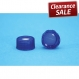 Cap Blue Pre-slit Screw with hole Blue PTFE/white silicone